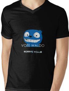Black Mirror - Vote Waldo Mens V-Neck T-Shirt