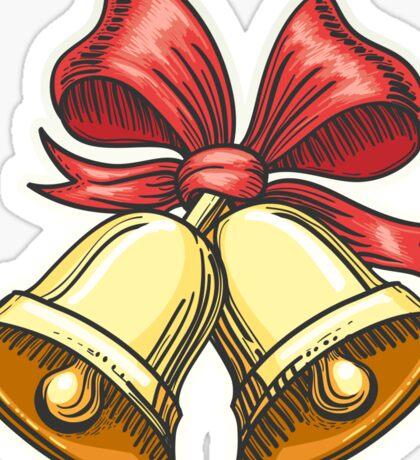 Paper Cut Jingle Bells Emblem Sticker