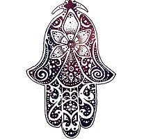 Midnight Fatima Hand Hamsa by ohdeer