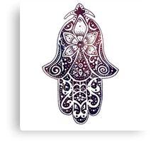 Midnight Fatima Hand Hamsa Canvas Print