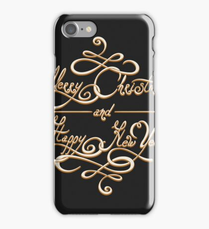 Merry Christmas and Happy New Year Emblem iPhone Case/Skin