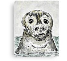 "Seal Art: ""Love in A Stormy Sea"" Canvas Print"