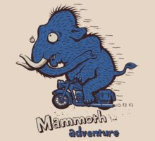 Mammoth adventure - megafauna t-shirt by Richard Morden
