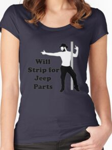 will strip for jeep parts Women's Fitted Scoop T-Shirt