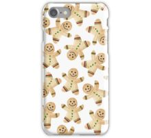 Gingerbread Man Cookie - Watercolor Gingerbread Christmas Cookies iPhone Case/Skin