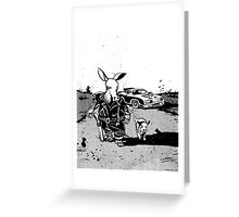 the road aardvark Greeting Card