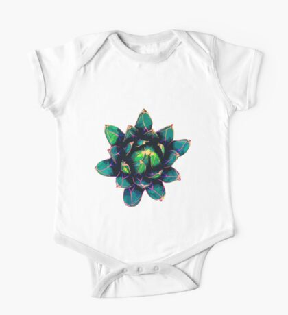 Sweet Agave ( Blue Succulent ) One Piece - Short Sleeve