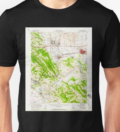 USGS TOPO Map California CA Livermore 298028 1953 62500 geo Unisex T-Shirt