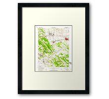 USGS TOPO Map California CA Livermore 298028 1953 62500 geo Framed Print
