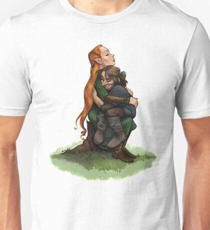 Kiliel on a tree stump Unisex T-Shirt