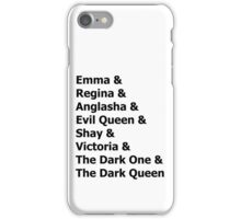 oiaq names iPhone Case/Skin