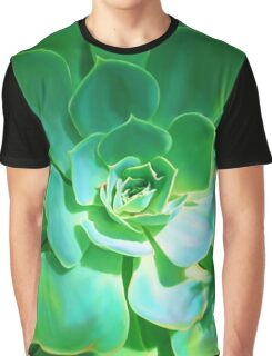 GREEN PLANT SUCCULENT Graphic T-Shirt