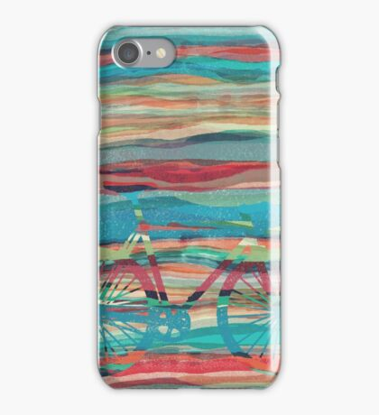 the super hipster fixie silhouette  iPhone Case/Skin