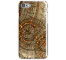 Golden cogwheels iPhone Case/Skin