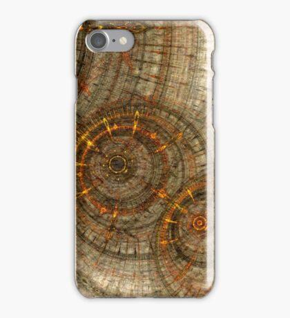 Golden cogwheels iPhone Case/Skin