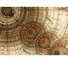 Golden cogwheels Photographic Print