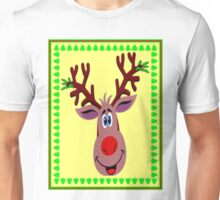 RUDOLPH; Red Nosed Reindeer Xmas Print Unisex T-Shirt