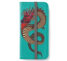 DRAGON INK turquoise iPhone Wallet/Case/Skin