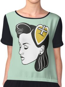 fresh from the barbershop: 50s girl Chiffon Top