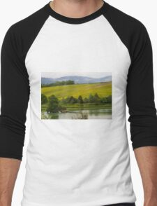 landscape lake Men's Baseball ¾ T-Shirt
