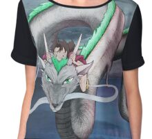 Sen and Haku Spirited Away Landscape Artwork Chiffon Top