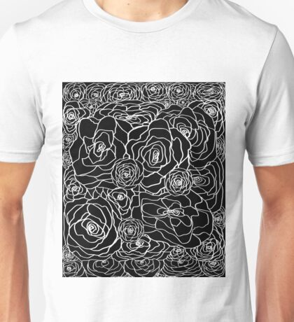 Black Rose Bush Unisex T-Shirt