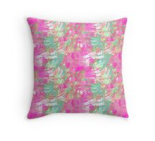 Mediterranean Flora Throw Pillow