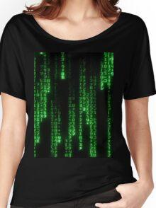Matrix Text Women's Relaxed Fit T-Shirt