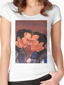 Clone Bros Echo Fives Hongi SW TCW Women's Fitted Scoop T-Shirt