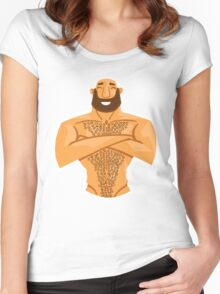 HAPPY HAIRY BEAR VERSION 1.2 Women's Fitted Scoop T-Shirt