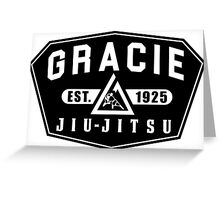 Gracie Brazilian  Jiu Jitsu martial arts EST 1925 black Greeting Card