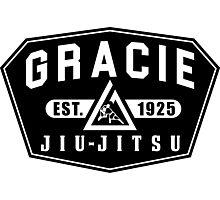 Gracie Brazilian  Jiu Jitsu martial arts EST 1925 black Photographic Print