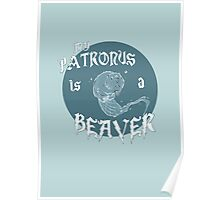 My Patronus is a Beaver Poster