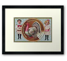 me peterson designs | thanksgiving 1908: edna to frances Framed Print
