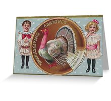 me peterson designs | thanksgiving 1908: edna to frances Greeting Card