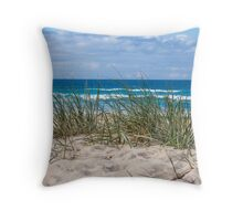 Sunshine Beach dunes Throw Pillow