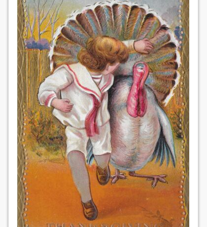 me peterson designs | thanksgiving 1908: george to mildred Sticker