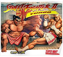 SNES Street Fighter II Turbo cover  Poster
