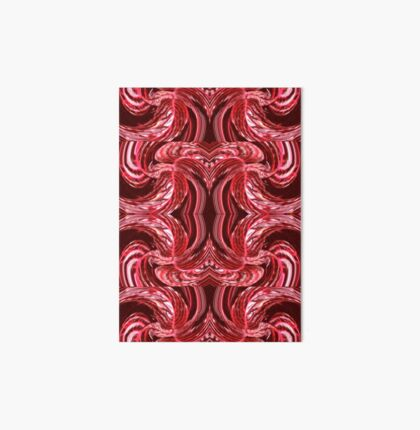 Red Swirled Art Board