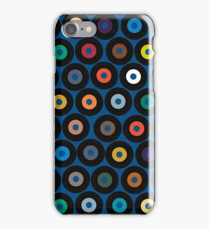 VINYL blue iPhone Case/Skin