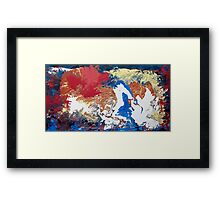 The map of a parallel world Framed Print