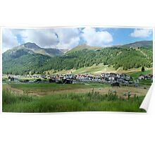 Italian Alps summer landscape Livingo, Lombardy, Italy  Poster