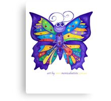 Yoga Butterfly; Namaste  Canvas Print