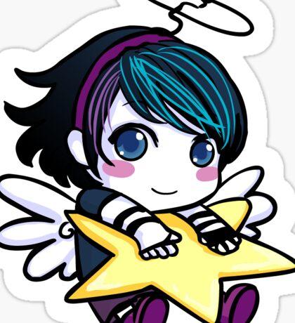 Xmas Angel Anna Blue Sticker Sticker