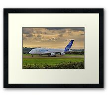 Airbus A380 - Evening Taxi Framed Print