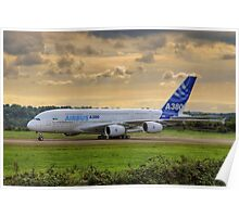 Airbus A380 - Evening Taxi Poster