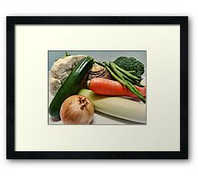Winter Soup Veg Framed Print