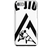 Gracie Jiu Jitsu Martial Arts Brazilian black2 iPhone Case/Skin