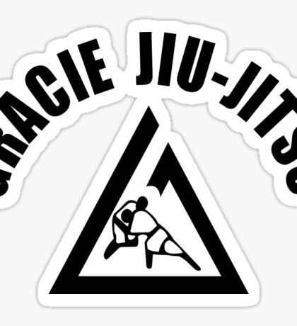 Gracie Jiu Jitsu Martial Arts Brazilian black2 Sticker