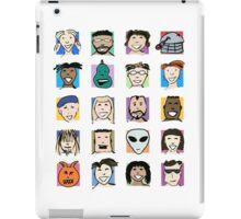Grid of Happy Faces iPad Case/Skin